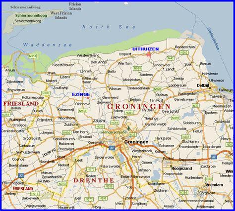 netherlands map groningen groningen province netherlands