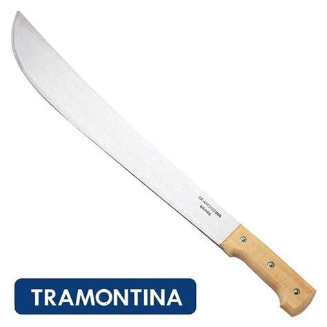 handle machete tramontina 18 inch bush machete with wood handle