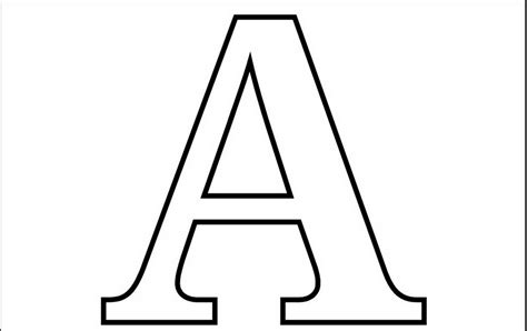 Letter A Coloring Pages - Preschool and Kindergarten A
