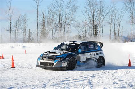 subaru rally snow learning to drive a subaru wrx sti rally car in the snow