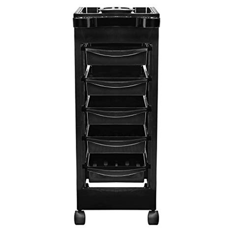 saloniture salon rolling trolley cart with 5