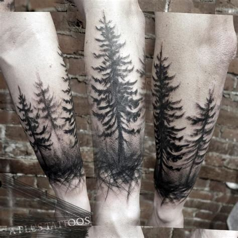 tree line maybe for around my ankle tattoo inspirations