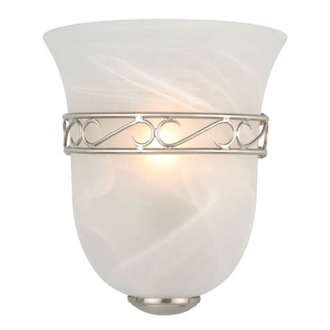 design house vanity shop design house marlowe 1 light 9 25 in satin nickel urn vanity light at lowes com