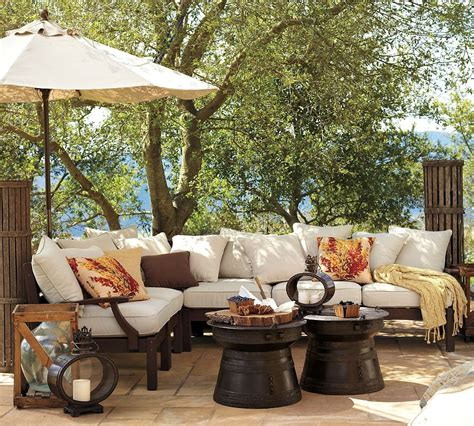 backyard furnishings outdoor garden furniture by pottery barn