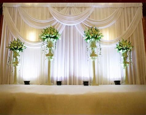 Piping And Draping For Weddings 3 6m Wedding Party Stage Celebration Background Satin