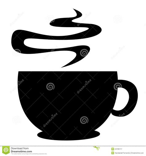 coffee cup silhouette coffee cup silhouette royalty free stock photography