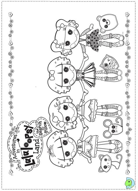 lalaloopsy color pages freecoloring4u com