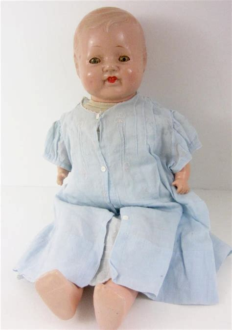 cleaning a composition doll antique composition baby doll dimples tin 19 quot molded