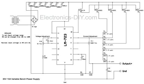 bench power supply circuit bench power supply with current limiter and voltage