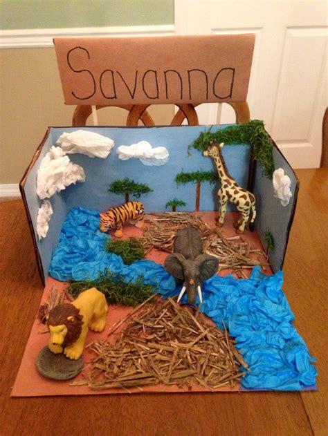 printable giraffe diorama savanna biome project school stuff pinterest 2 all