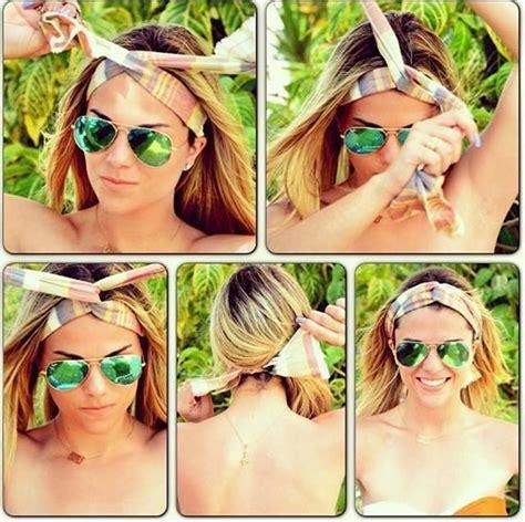 bandana hairstyles for shoulder length hair 14 tutorials for bandana hairstyles pretty designs