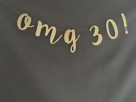 30th birthday decorations 30th birthday banner 30th birthday