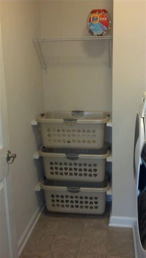 Laundry Room Basket Storage 17 Best Ideas About Laundry Basket Storage On Pinterest Laundry Storage Laundry Basket