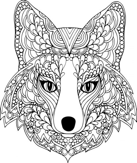 dog mandala coloring page the face of the dog free coloring page ausmalbilder