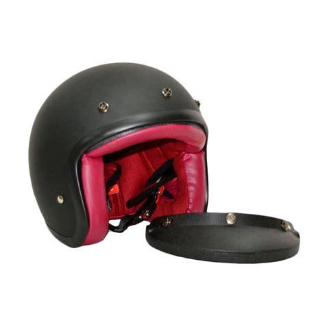 Helm Rsv Jual Rsv Helm Classic Helm Half Black Doff