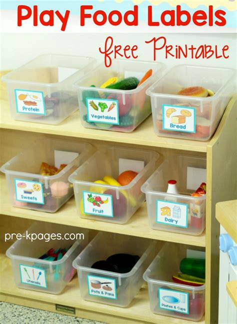 Kitchen Area Labels Dramatic Play Center In Preschool Pre K And Kindergarten