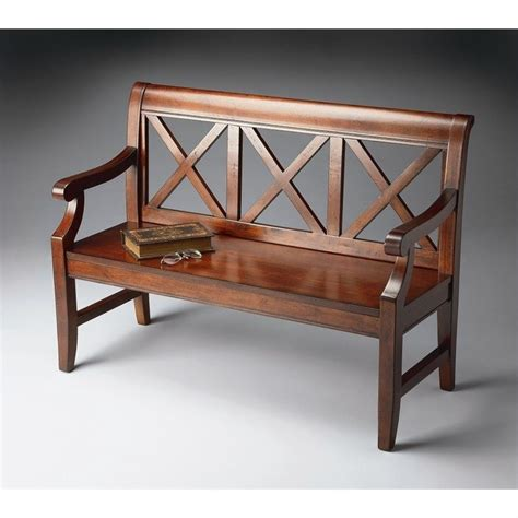 butler bench butler specialty bench in plantation cherry 5048024