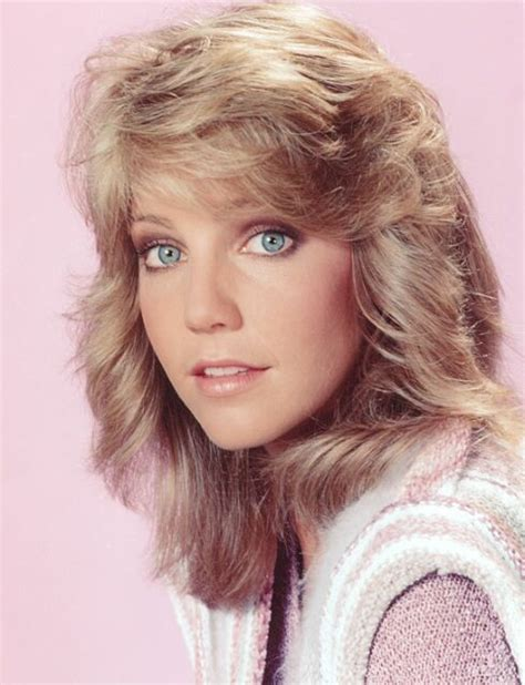 feathered brush back hair feathered hair heather locklear the way way back