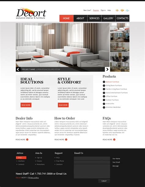Interior Furniture Website Template 33410 Furniture Website Templates Free