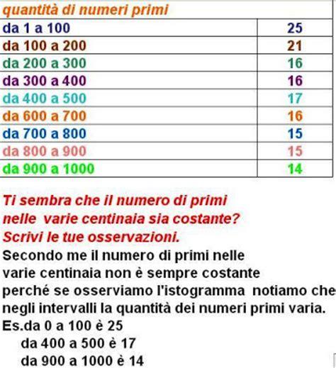 tavola dei multipli matematicamedie la frequenza dei numeri primi con excel