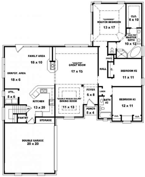 Amazing 4 Bedroom Ranch House Plans Kerala Style House Small 3 Bedroom 1 Bath House Plans