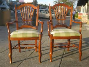 ethan allen chairs uhuru furniture collectibles sold  ethan allen wheat back chairs