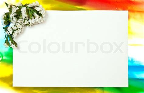 flower design using colored paper white paper blank on red with flowers design colored