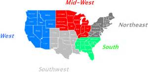 map of the 5 regions of the united states united states 5 regions map quotes
