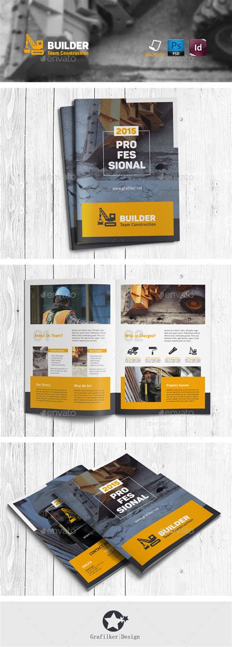 Construction Brochure Template by Construction Brochure Templates By Grafilker Graphicriver