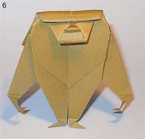 How To Make Origami Gorilla - origami orangutan comot