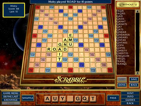 q without u scrabble scrabble complete screenshots for windows mobygames
