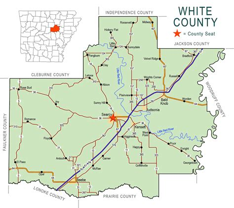 Arkansas Records White County Arkansas Map Arkansas Map