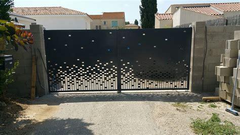Fabrication et pose portail moderne fabrique sur mesure a aix en provence 13 bdr m 233 tal concept