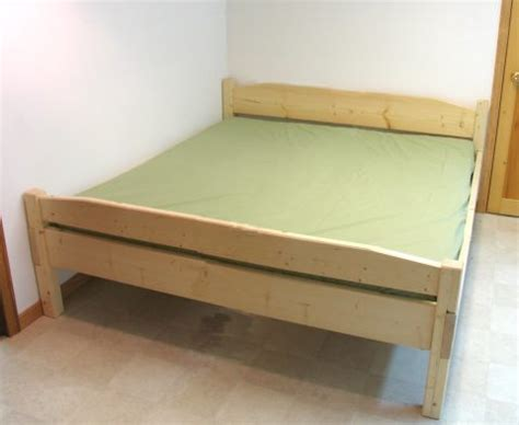 build a king size bed easy to build king size bed plan