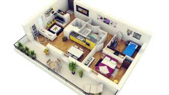 Modern Apartment Plans 2 Bedroom Apartment House Plans