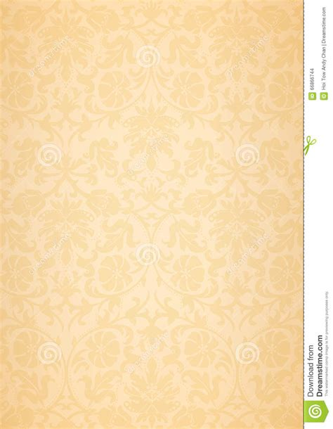 pattern background beige beige classic flower pattern wallpaper background stock