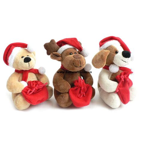 china plush stuffed christmas animal set toys gifts photos