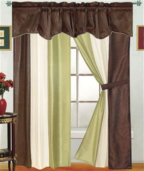 5 piece curtain sets contempory 5 piece reflection window treatment curtain set