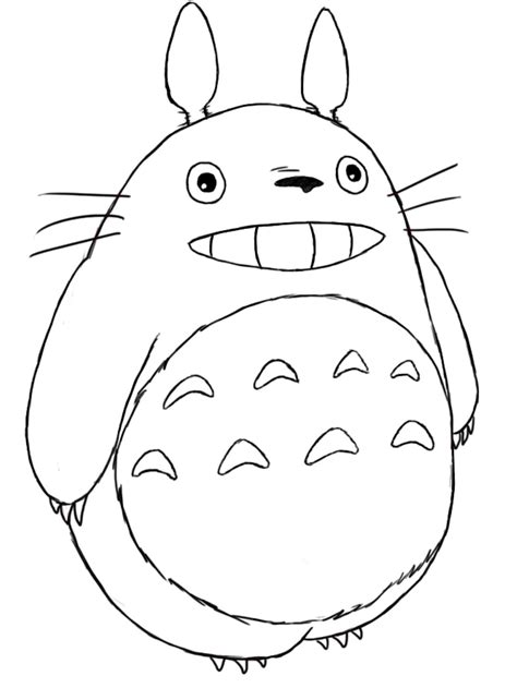 totoro coloring pages selfcoloringpages com