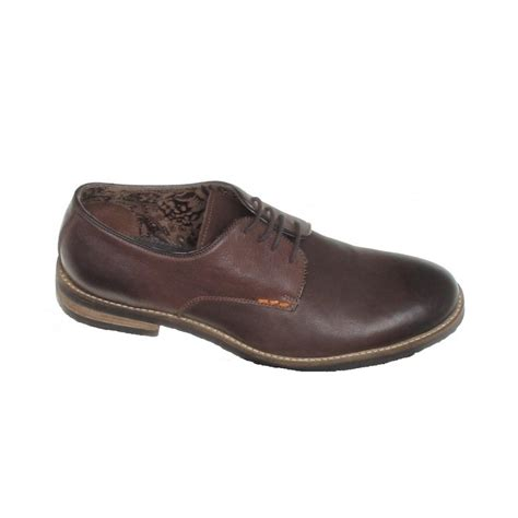 yorker shoes yorker brown leather leather lace shoe