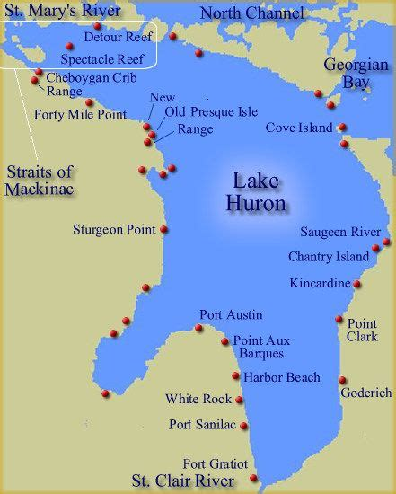 show me a map of michigan 25 best ideas about lake huron on rock this