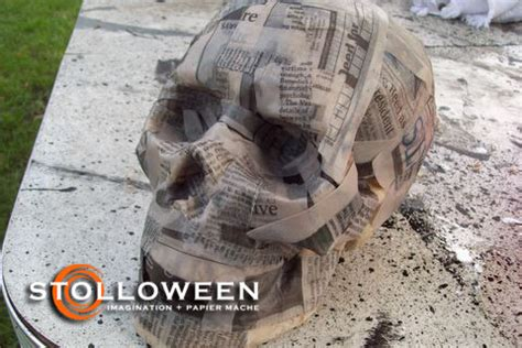 How To Make Paper Mache Skull - how to skull replication stolloween