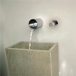 robinet mitigeur lavabo mural encastrable avec bec cascade