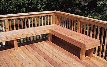 deck railing bench design plans 1000 ideas about deck benches on pinterest corner deck decking material and decks