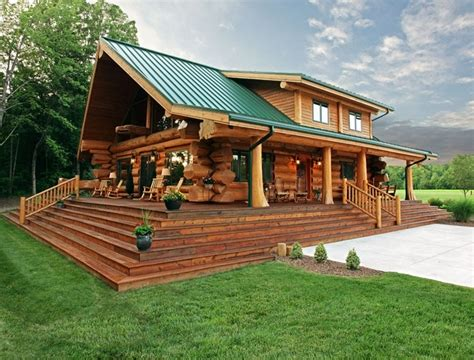 C Cabin And Home by Amazing Log Cabin With Green Roof Small Houses Cabins