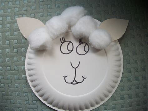 Paper Plate Sheep Craft - paper plate crafts sheep