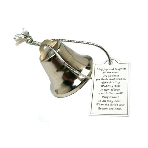 wedding bell poem silver wedding bells with poem cards