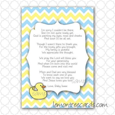 baby poems for baby showers baby shower money tree poem duck baby shower thank you