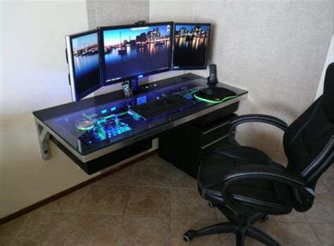 awesome computer desk awesome computer desk dream home pinterest