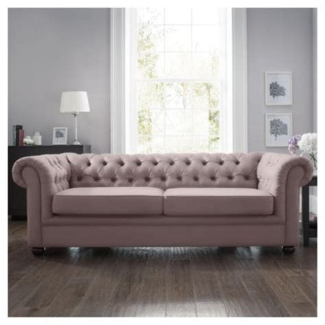 Velvet Chesterfield Sofa Bed Chesterfield Velvet Effect Fabric Sofa Bed Mink 163 699 Snug Ideas Fabric Sofa
